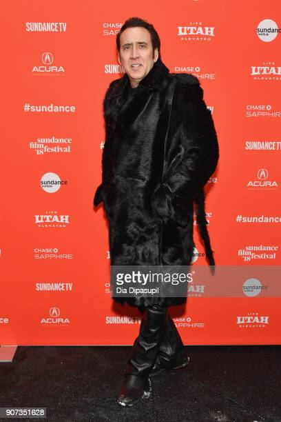"""Actor Nicolas Cage attends the """"Mandy"""" Premiere during the 2018 Sundance Film Festival at Park City Library on January 19, 2018 in Park City, Utah."""