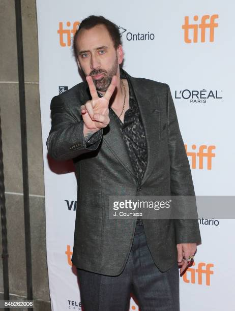 Actor Nicolas Cage attends the premiere of Mom and Dad during the 2017 Toronto International Film Festival at Ryerson Theatre on September 9 2017 in...