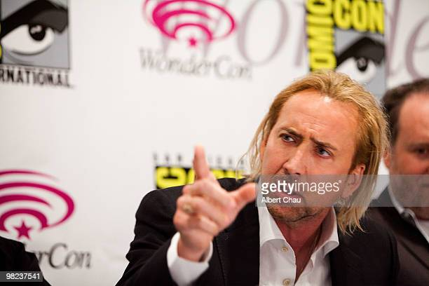 """Actor Nicolas Cage attends """"The Sorcerer's Apprentice"""" panel at the 2010 WonderCon - Day 2 at Moscone Center South on April 3, 2010 in San Francisco,..."""