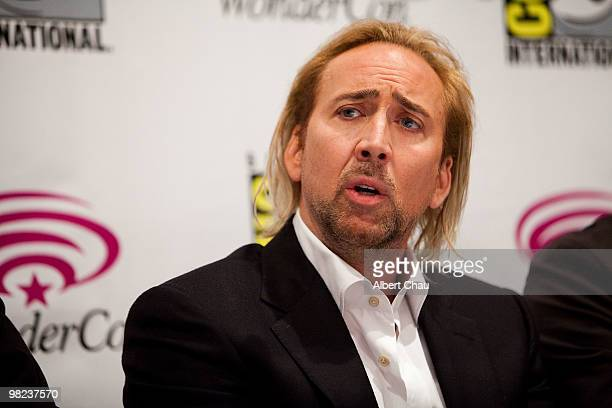 Actor Nicolas Cage attends The Sorcerer's Apprentice panel at the 2010 WonderCon Day 2 at Moscone Center South on April 3 2010 in San Francisco...