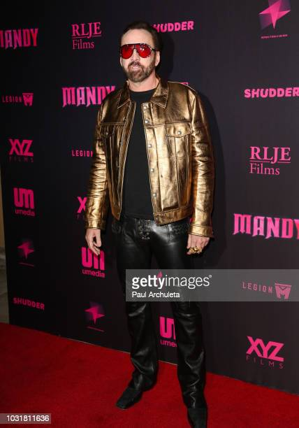 Actor Nicolas Cage attends the special screening and QA of Mandy At Beyond Fest at the Egyptian Theatre on September 11 2018 in Hollywood California