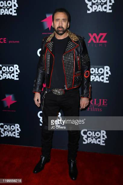 Actor Nicolas Cage attends the special screening of Color Out Of Space at the Vista Theatre on January 14 2020 in Los Angeles California