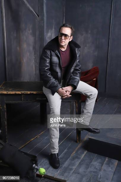Actor Nicolas Cage from 'Mandy' attends The Hollywood Reporter 2018 Sundance Studio at Sky Strada Park City on January 19 2018 in Park City Utah