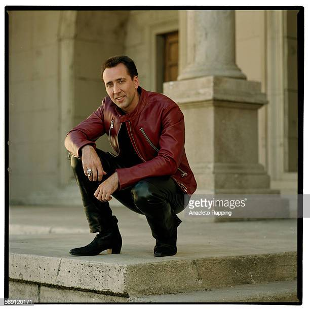 Actor Nicolas Cage is photographed for Los Angeles Times on October 16, 2000 at Universal Studios back lot in Universal City, California. CREDIT MUST...