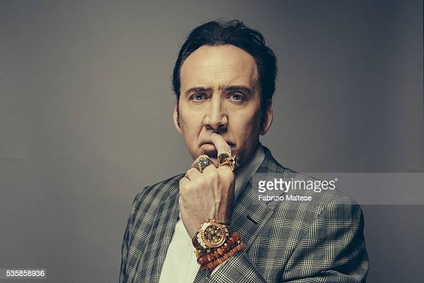 Actor Nicolas Cage is photographed for The Hollywood Reporter on May 14 2016 in Cannes France