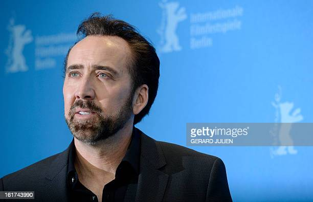 US actor Nicolas Cage poses during a photocall for the film The Croods presented out of competition during the 63rd Berlin International Film...