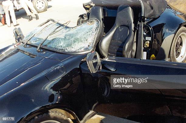 Actor Nicolas Cages 1989 Porsche Sportster sits in ruins January 16 2002 after being pulled from the Lake of the Ozarks MO The $100000 collectors...