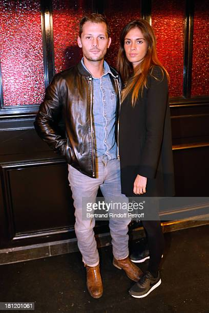 Actor Nicolas Duvauchel and his fiance Laura Isaaz attend 'AClub Party' at Castel on September 19 2013 in Paris France