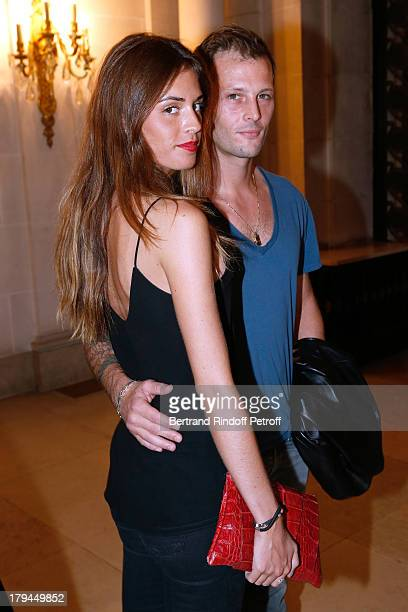 Actor Nicolas Duvauchel and his fiance Laura Isaaz attend Lui Magazine Launch Party held at Foch Avenue in Paris at on September 3 2013 in Paris...