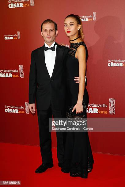 Actor Nicolas Duvauchelle and Laura Isaaz arrive at the Cesar Film Awards 2016 at Theatre du Chatelet on February 26 2016 in Paris France