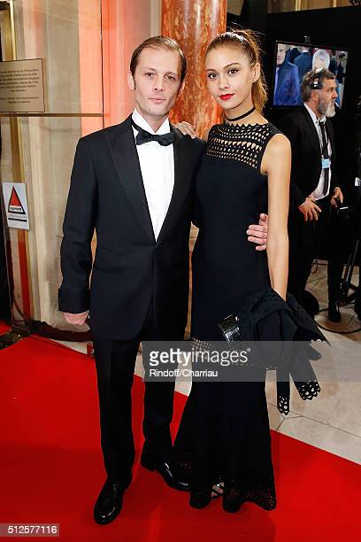Actor Nicolas Duvauchelle and Laura Isaaz attend the Cesar Film Award 2016 at Theatre du Chatelet on February 26 2016 in Paris France
