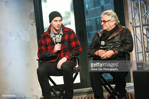 Actor Nicolas Hoult and Director George Miller attend AOL BUILD series George Miller Mad Max Fury Road at AOL Studios In New York on January 5 2016...