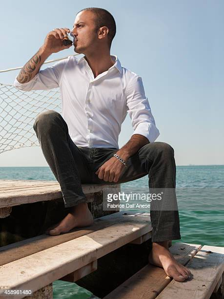 Actor Nicolas Vaporidis is photographed for Vanity Fair Italy on September 1 2013 in Venice Italy