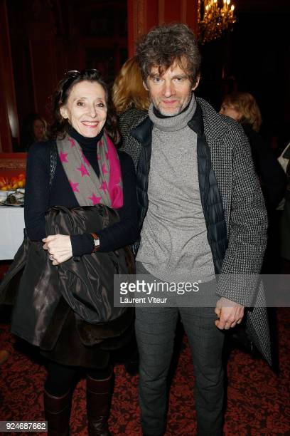 """Actor Nicolas Vaude and guest attend """"L'Evenement"""" Theater Play during 'Paroles Citoyennes' 10 shows to wonder about the society at Theatre Antoine..."""