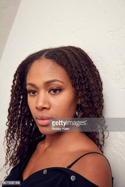 Actor Nicole Beharie from the film 'Monsters And Men' poses for a portrait in the YouTube x Getty Images Portrait Studio at 2018 Sundance Film...