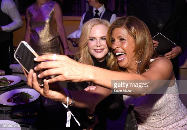 Actor Nicole Kidman and Hoda Kotb attend the 2018 Time 100 Gala at Jazz at Lincoln Center on April 24 2018 in New York CityÊ
