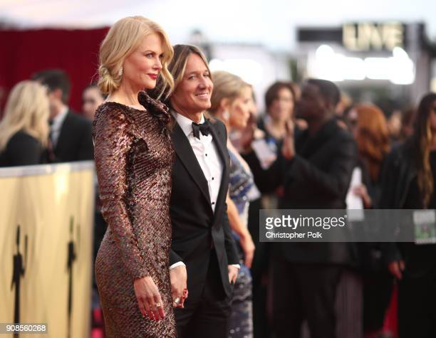 Actor Nicole Kidman and musician Keith Urban attend the 24th Annual Screen Actors Guild Awards at The Shrine Auditorium on January 21 2018 in Los...