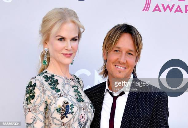 Actor Nicole Kidman and recording artist Keith Urban attend the 52nd Academy Of Country Music Awards at Toshiba Plaza on April 2 2017 in Las Vegas...