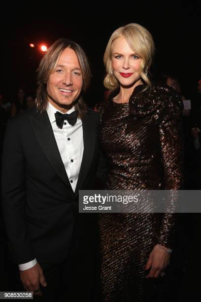 Actor Nicole Kidman and singer Keith Urban attend the 24th Annual Screen Actors Guild Awards at The Shrine Auditorium on January 21 2018 in Los...