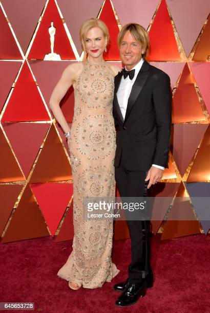 Actor Nicole Kidman and singer Keith Urban attend the 89th Annual Academy Awards at Hollywood Highland Center on February 26 2017 in Hollywood...