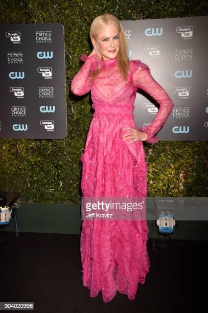 Actor Nicole Kidman attends The 23rd Annual Critics' Choice Awards at Barker Hangar on January 11 2018 in Santa Monica California