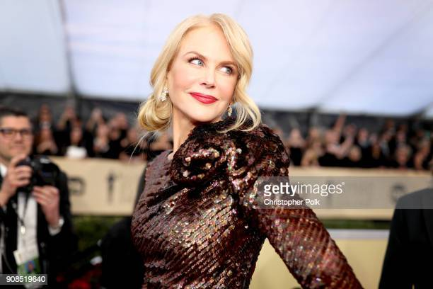 Actor Nicole Kidman attends the 24th Annual Screen Actors Guild Awards at The Shrine Auditorium on January 21, 2018 in Los Angeles, California....