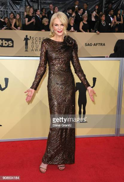 Actor Nicole Kidman attends the 24th Annual Screen ActorsGuild Awards at The Shrine Auditorium on January 21 2018 in Los Angeles California