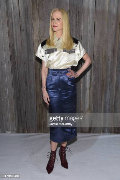 Actor Nicole Kidman attends the Calvin Klein Collection during New York Fashion Week at New York Stock Exchange on February 13 2018 in New York City