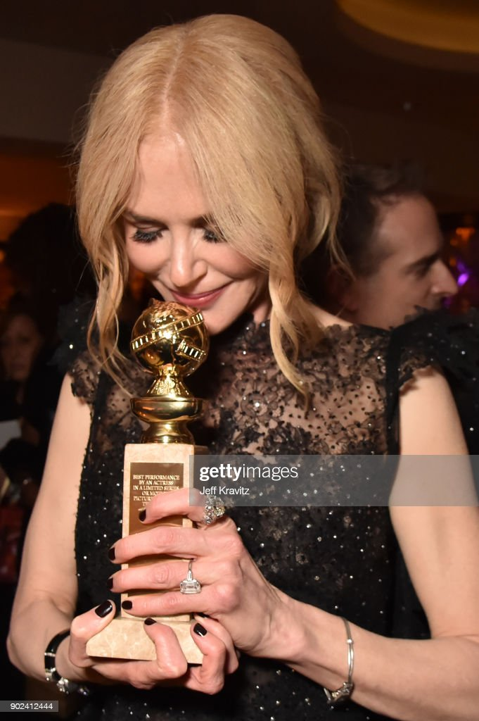 Actor Nicole Kidman holds her award for Best Performance by an Actress in a Limited Series or a Motion Picture Made for Television for 'Big Little Lies' during HBO's Official 2018 Golden Globe Awards After Party on January 7, 2018 in Los Angeles, California.