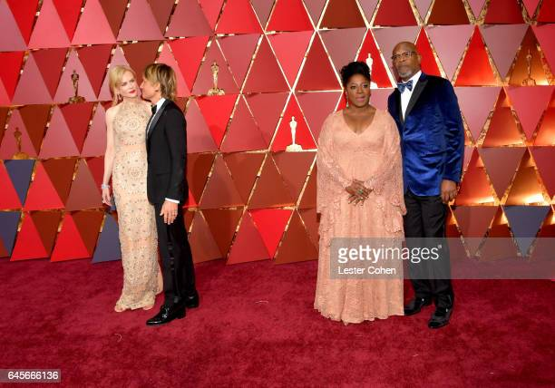 Actor Nicole Kidman musician Keith Urban and actors LaTanya Richardson and Samuel L Jackson attend the 89th Annual Academy Awards at Hollywood...