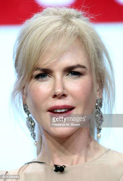 Actor Nicole Kidman of 'Top of the Lake China Girl' speaks onstage during the SundanceTV portion of the 2017 Summer Television Critics Association...