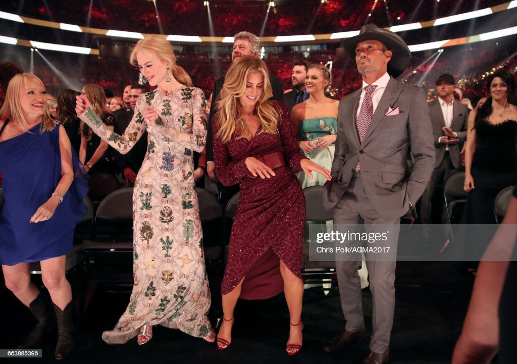 Actor Nicole Kidman, singer Faith Hill, singer Kelsea Ballerini and singer Tim McGraw attend the 52nd Academy of Country Music Awards at T-Mobile Arena on April 2, 2017 in Las Vegas, Nevada.