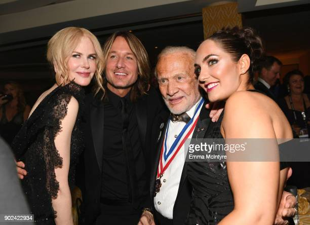 Actor Nicole Kidman singer Keith Urban astronaut Buzz Aldrin and guest attend HBO's Official Golden Globe Awards After Party at Circa 55 Restaurant...
