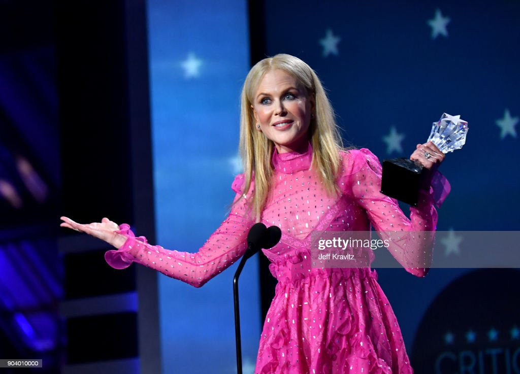 Actor Nicole Kidman speaks on stage at The 23rd Annual Critics' Choice Awards at Barker Hangar on January 11, 2018 in Santa Monica, California.