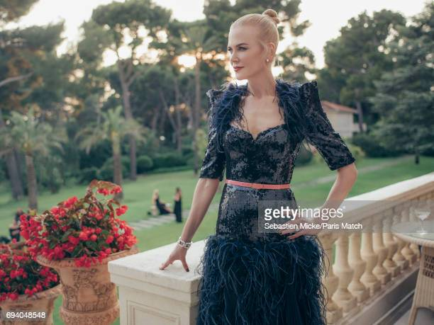 Actor Nicole Kidman wearing a Chanel dress is photographed for Paris Match on May 25 2017 in Antibes France