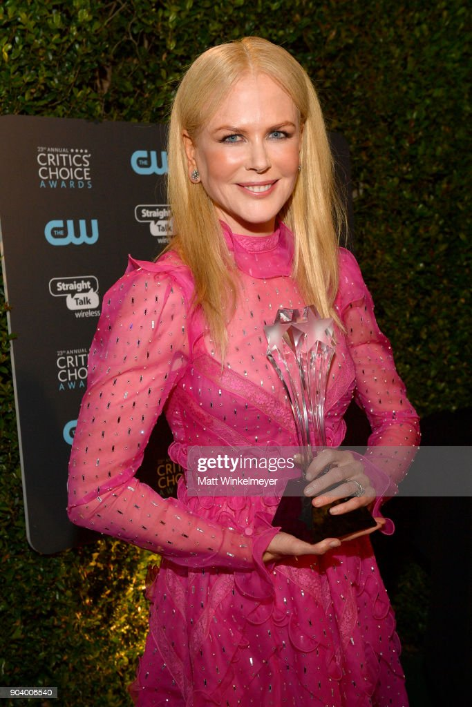 Actor Nicole Kidman, winner of Best Actress in a Movie/Limited Series for 'Big Little Lies', attends The 23rd Annual Critics' Choice Awards at Barker Hangar on January 11, 2018 in Santa Monica, California.