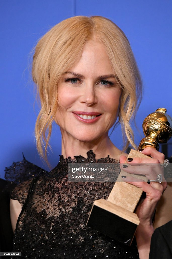 Actor Nicole Kidman, winner of the award for Best Performance by an Actress in a Limited Series or a Motion Picture Made for Television for 'Big Little Lies,' poses in the press room during The 75th Annual Golden Globe Awards at The Beverly Hilton Hotel on January 7, 2018 in Beverly Hills, California.