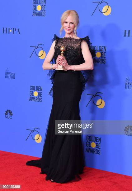 Actor Nicole Kidman, winner of the award for Best Performance by an Actress in a Limited Series or a Motion Picture Made for Television for 'Big...