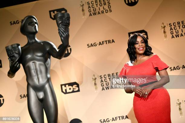 Actor Niecy Nash at the 24th Annual Screen Actors Guild Awards Nominations Announcement at Silver Screen Theater on December 13 2017 in West...