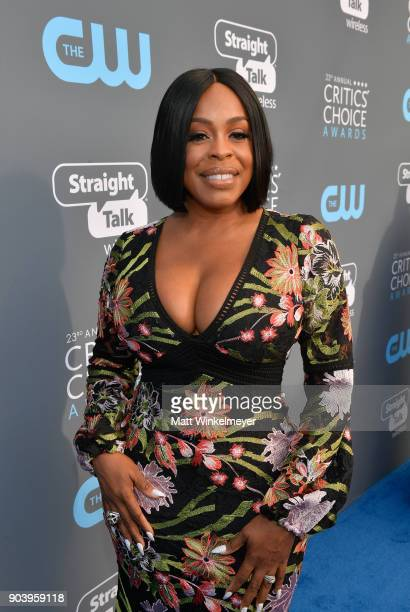 Actor Niecy Nash attends The 23rd Annual Critics' Choice Awards at Barker Hangar on January 11 2018 in Santa Monica California