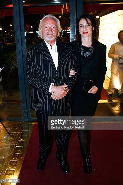 Actor Niels Arestrup and his wife Isabelle Le Nouvel attend the Fouquet's Paris Restaurant presents its Menu 'Twisted' by the Chef Pierre Gagnaire...