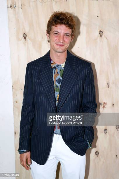 Actor Niels Schneider attends the Acne Studio Menswear Spring/Summer 2019 show as part of Paris Fashion Week on June 20 2018 in Paris France