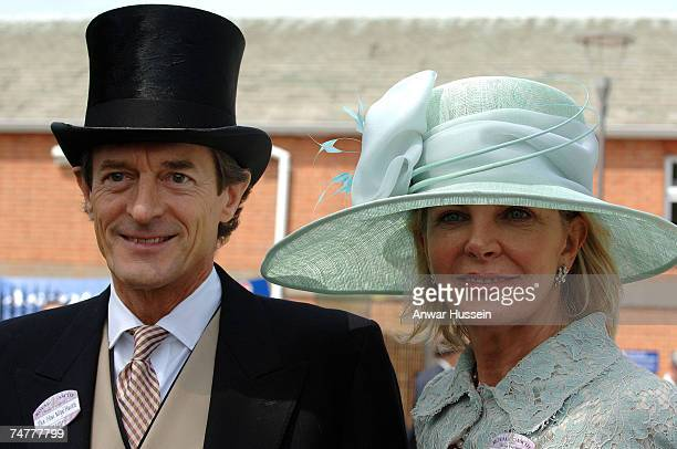 Actor Nigel Havers and Georgiana Bronfman attend the first day of Royal Ascot on June 19 2007 in Ascot England