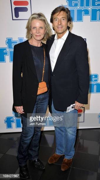 Actor Nigel Havers and his wife Georgiana Bronfman attend the UK Premiere of 'The Firm' at Vue West End on September 10, 2009 in London, England.