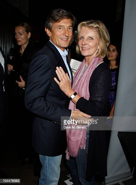 Actor Nigel Havers and wife Georgiana Bronfman at the press night party of 'Krapp's Last Tape' at the Mint Leaf restaurant on September 22 2010 in...