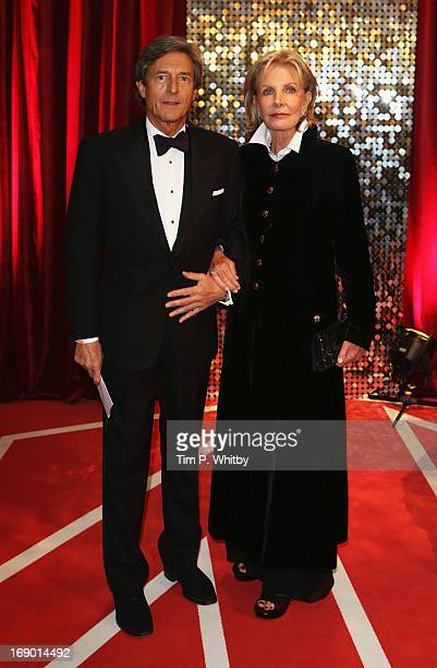 Actor Nigel Havers and wife Georgiana Bronfman attends the British Soap Awards at Media City on May 18 2013 in Manchester England