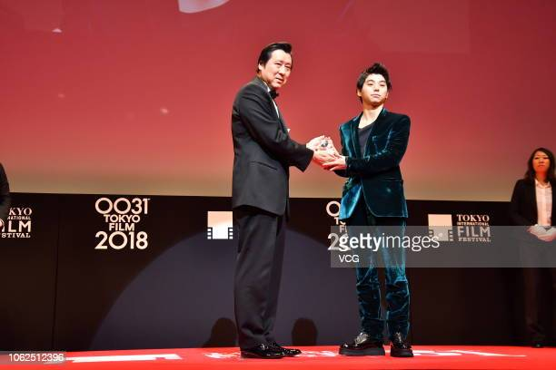Actor Nijiro Murakami attends the closing ceremony of the 31st Tokyo International Film Festival on November 2 2018 in Tokyo Japan