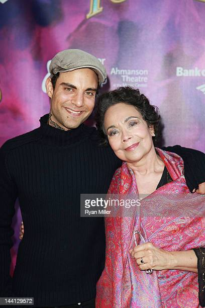 Actor Nik Tyler and actress Arlene Martel arrive for the opening night performance of Follies at Center Theatre Group/Ahmanson Theatre on May 9 2012...