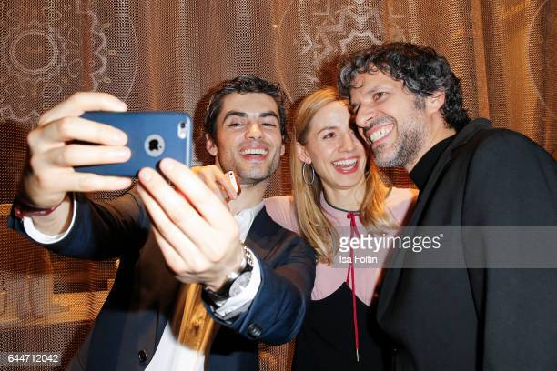 Actor Nik Xhelilaj german actress Annika Blendl and actor Pasquale Aleardi attend the Wempe store opening with the Rolls Royce shuttels in front of...