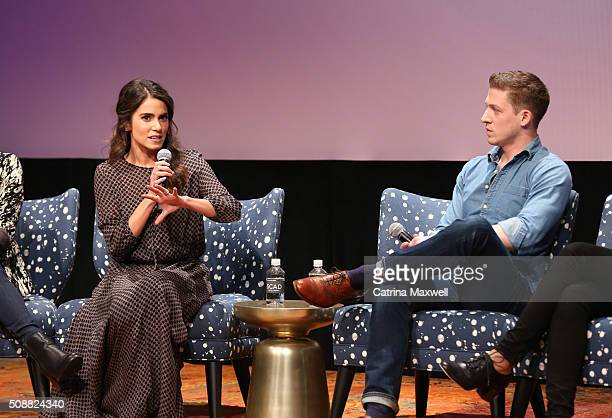 Actor Nikki Reed and Zach Appelman speak on stage during the Sleepy Hollow event during aTVfest 2016 presented by SCAD on February 6 2016 in Atlanta...